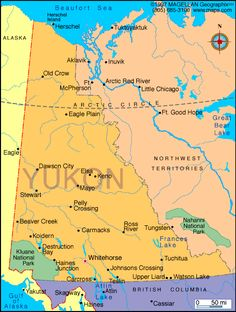 map of yukon canada google search