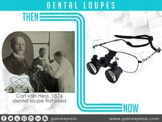 Did you know that in 1876 Carl von Hess from #Germany created the first simple #dental#loupes. For wider field of view & #depth of field and high enough magnification on doing dental #procedures. History shown that changes is inevitable especially to products like dental loupes.   See http://www.gainexpress.com/collections/dental-loupes