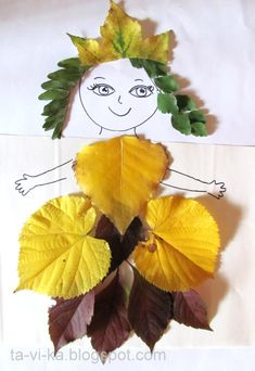 Creative Leaf Animal Art -Relaxwoman Are the leaves of the trees in front of your house starting to change color and fall? Kids Crafts, Leaf Crafts, Fall Crafts For Kids, Preschool Crafts, Diy For Kids, Diy And Crafts, Arts And Crafts, Flower Crafts, Easter Crafts