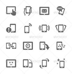 Mobile Icons by davooda Simple Set of Mobile Devices Related Vector Icons for Your Design.