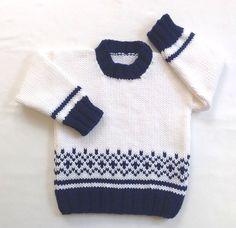 Suéter del niño  12 a 24 meses  Fair Isle Jersey de bebé