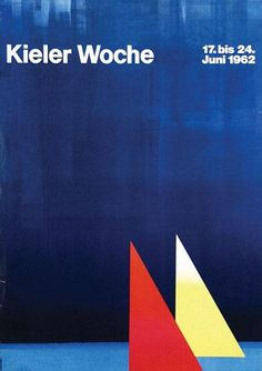 Poster by Anton Stankowski - Kieler Woche, 1962