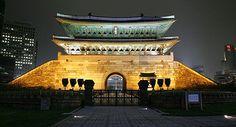 국보1호 숭례문 ~ (National Treasure No. 1)  Partially destroyed by fire but is now being reconstructed and restored.