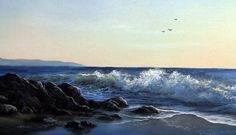 Learn how to paint this Pacific Coast seascape with Kevin. For more info on his brush line, instructional DVDs and paint go to www.paintwithkevin.com