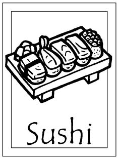 Sushi coloring page | Unique Pin from Jeane C.