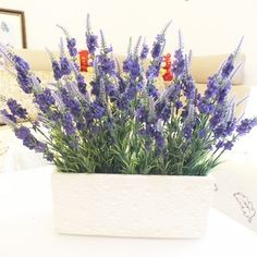 """Aliexpress.com : Buy 180 heads lavender bouquet artificial flower dried provence silk classic 14.9"""" long home wedding party decoration free shipping from Reliable silk orchid suppliers on Lore 's Decoration Flowers Store. $29.99"""