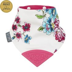 One of our new best sellers! Keep drool of your baby with a fashionable and functional bandana bib! These cute bibs have a teether attached <3