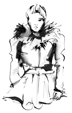Vogue fashion illustration by Anna Wand