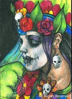 Dia de los muertos chica
