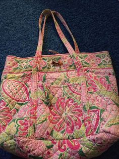 Women s Bags   Handbags · Vera Bradley Tote - Floral Print Used  fashion   clothing  shoes  accessories   6d7ca2e659