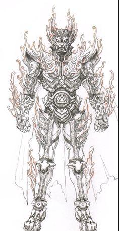 Makai Wolf Knight- Garo; Flame Mode