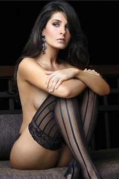 Just Pretty ... black striped stockings ... #sexy