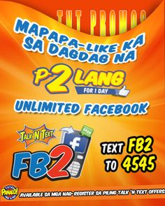 Talk N Text 1 Day Unlimited Facebook for only P2 Promo