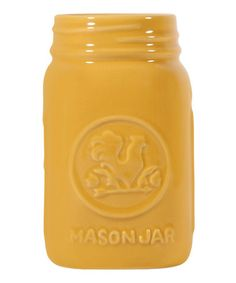 Another great find on #zulily! Yellow Rooster Mason Jar #zulilyfinds