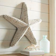 Starfish Seagrass Wall Decor White