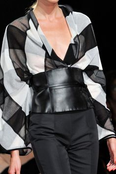 - The Cut spring 2014. Leather with black and white checkered pattern