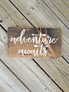 Woodland nursery, woodland nursery decor, adventure awaits, adventure sign, you are our greatest adventure, lets be adventures, woodland