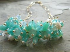 CARIBBEAN CASCADE NECKLACE by SurfAndSand on Etsy
