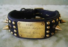 c1909. Leather with brass spikes & studs.