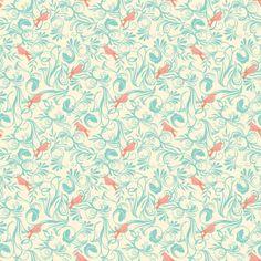 bird flora blue | timber & leaf | blendfabrics.com