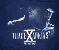 Trace Adkins X Ten Tour 2009 Tour Shirt Size 2XL Double Sided #Anvil #GraphicTee Vintage Rock Tees, Trace Adkins, Graphic Tees, Tours, Cotton, Shirts, Dress Shirts, Shirt, Graphic T Shirts