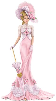 """Vintage Ladies"" figurine by Thomas Kinkade Victorian Women, Victorian Fashion, Vintage Fashion, Edwardian Style, Vintage Mode, Vintage Ladies, Vintage Hats, Vintage Style, Thomas Kinkade"