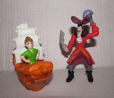 Vintage Peter Pan Toy Lot Peter Pan in Boat Disney 40th Captain Hook McDonalds   eBay
