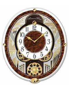 Seiko Rotating Pendulum Melodies in Motion Clock - 6 Melodies - Opening Dial