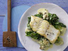 Gebratener Seelachs - auf Mangold-Curry - smarter - Kalorien: 331 Kcal - Zeit: 20 Min. | eatsmarter.de Mangold ist gesund, schmeckt und passt zu Fisch.