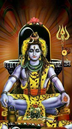 In Shaivism, he is a fierce manifestation of Shiva associated with annihilation Shiva Parvati Images, Shiva Hindu, Shiva Art, Hindu Deities, Krishna Art, Tantra, Shiva Shankar, Shiva Photos, Lord Shiva Statue