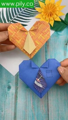 Cool Paper Crafts, Paper Flowers Craft, Paper Crafts Origami, Diy Crafts For Gifts, Creative Crafts, Fun Crafts, Instruções Origami, Origami Cards, Origami Tutorial