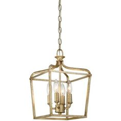Minka Lavery 4445-582 Laurel Estate 4-Light Pendant in Brio Gold