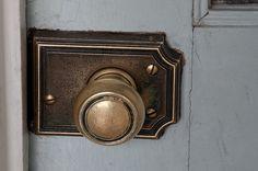 old brass doorknobs