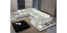 $2799 - Divani Casa T35 Sectional Sofa in White Leather by VIG Furniture