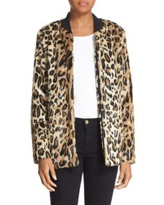 Truth & Pride | Multicolor 'leo' Faux Leopard Fur Bomber Jacket | Lyst
