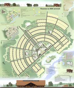 Проект. Поселок на 2600 жителей.