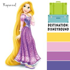 Rapunzel Disneybound Color Palette Colour Pallete, Color Combinations, Color Schemes, Color Palettes, Rapunzel, Disney Princess Colors, Disney Colors, Disney Quilt, Colours That Go Together