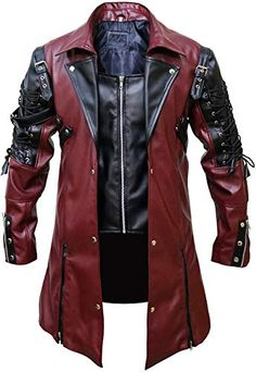 Looking for FaddyRox Steampunk Gothic Men Faux Leather Maroon & Black Coat Jacket, XXS - ? Check out our picks for the FaddyRox Steampunk Gothic Men Faux Leather Maroon & Black Coat Jacket, XXS - from the popular stores - all in one. Steampunk Jacket, Mode Steampunk, Style Steampunk, Steampunk Clothing, Steampunk Fashion, Gothic Clothing, Gothic Steampunk, Red Clothing, Clothing Accessories