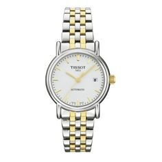 Tissot T-Classic Carson Automatic Movement White Dial Women's watch #T95.2.183.31 Tissot. $389.00. Automatic Movement. White Dial. Case Diameter:35 mm. Water Resistance to 30 meters/ 100 feet.. Two-tone stainless steel bracelet. Save 18%!