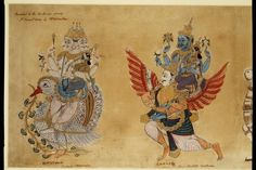 Scroll painting, Hindu deities, opaque watercolour on paper, Andhra Pradesh or Tamilnadu, ca. 1771 or ca. Mughal Paintings, Indian Paintings, Indian Artwork, Art Paintings, Mysore Painting, Religion, Hindu Deities, Hinduism, Exotic Art