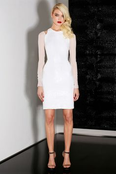 Edgy brides, you'll love this @JasonWu little white dress. Sexy, subtle, and fashion savvy.