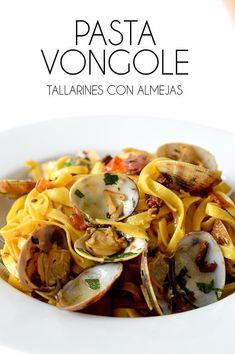 PASTA VONGOLE - My CMS Ratatouille, Cooking Time, Pasta Recipes, Pasta Salad, Chicken, Meat, Ethnic Recipes, Food, Korean Drama