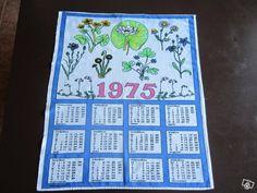 Kalenteripyyhe / Calendar towel 1975