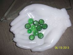 Jewelry Dish holder Avon milk glass hands by NAESBARGINBASEMENT, $20.00