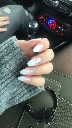 #nails #french #glitter #inspo