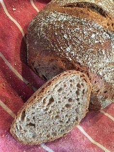 Lažanský bochník (celozrnný nehnětený kváskový chléb)   ŠKOLA KVÁSKOVÉHO PEČENÍ