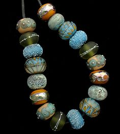 DSG Beads Handmade Organic Lampwork Glass Made by debbiesanders