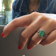 200 year old Antique Georgian Two Carat Emerald Ring