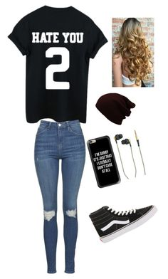 """""""Untitled #40"""" by skielerh on Polyvore featuring Vans, Topshop, Casetify and Kreafunk"""
