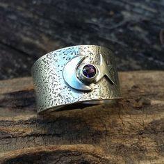 Talla 9,10,11 para hombres hecho a mano de acero inoxidable anillo de zafiro 23mm de ancho de banda enorme
